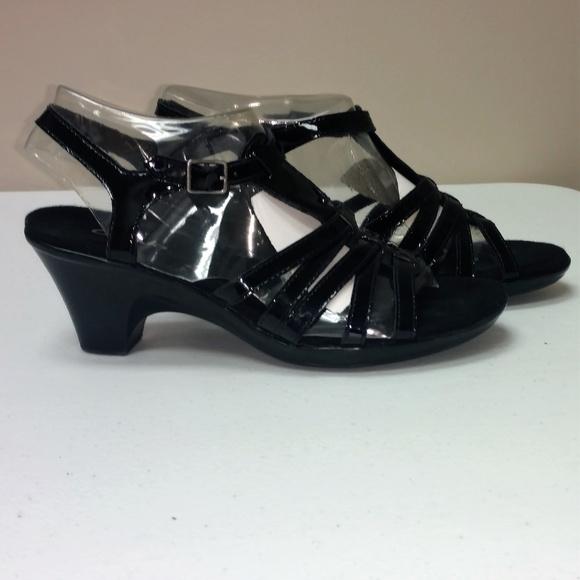1b617c3350d Clarks Shoes - Clark s Black Kitten Heel Sandals